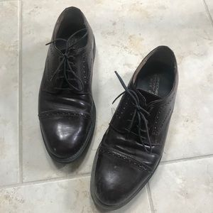 Sketchers brown dress shoes size 10 wide.